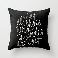 tolkien Throw Pillows featuring J. R. R. Tolkien quote by molly ennis