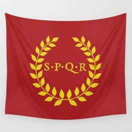 SPQR logo Wall Tapestry