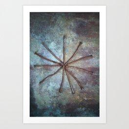 Circle of Nails Art Print
