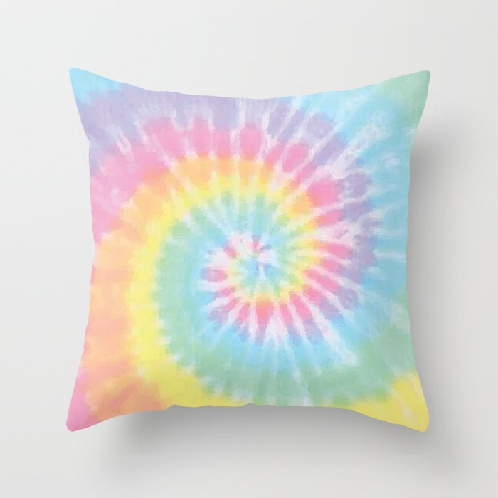 Pastel Tie Dye Throw Pillow By Casesbykate Society6