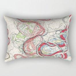 Vintage Map of the Mississippi River Rectangular Pillow