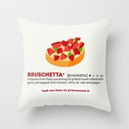Bruschetta Throw Pillow
