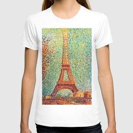 Eiffel Tower by George Seurat T-shirt