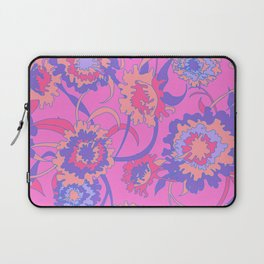 Bold Tropical Floral in Neon Pink + Purple Laptop Sleeve