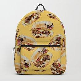 Pugs Burger Watercolor Backpack