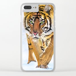Walking Tiger Clear iPhone Case