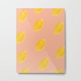 Lemons (Pink) Metal Print