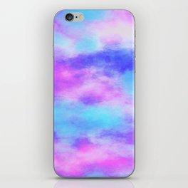 Pink & Blue Tie Dye iPhone Skin