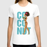 coconut wishes T-shirts featuring Coconut by KAA illustration