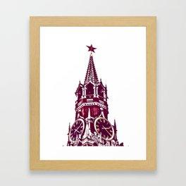 Kremlin Chimes-red Framed Art Print