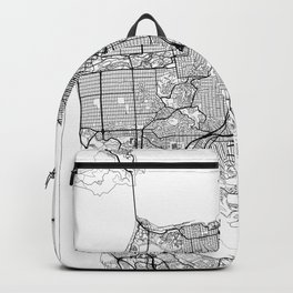 San Francisco Map White Backpack
