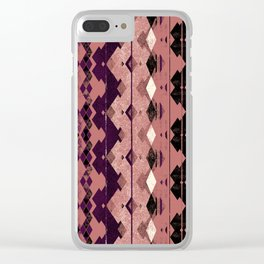 small diamond aztec Clear iPhone Case