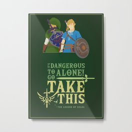 The legend of zelda - Minimalist Quote Game Metal Print