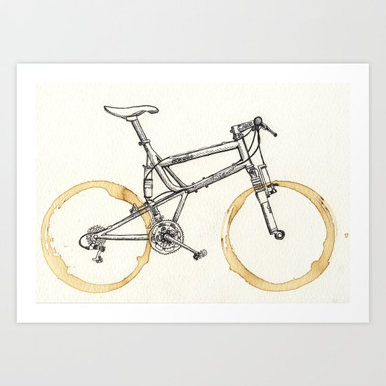 Decaf-Coffee Wheels #00 Art Print
