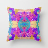 glitch Throw Pillows featuring GLITCH  by Vasare Nar