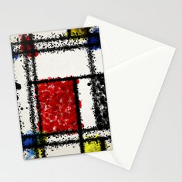Mondrian with a twist Stationery Cards