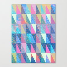 Candy Triangles Canvas Print