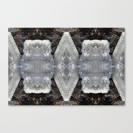 Diamond Ice Jewels Nature Image by Deba Cortese Canvas Print
