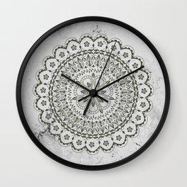 Mandala on Gray marble Wall Clock