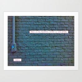Corner of Ann Arbor Art Print
