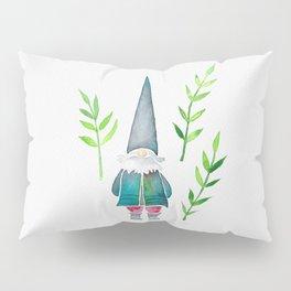 Summer Gnome - Green Leaves Pillow Sham