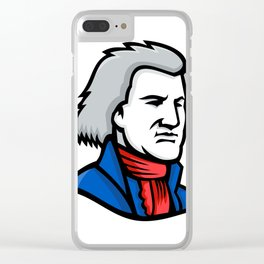 Thomas Jefferson Mascot Clear iPhone Case