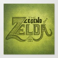 legend of zelda Canvas Prints featuring Legend of Zelda  by Drake Sauer