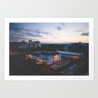 ohio state Art Prints featuring The Ohio State University by Cailin Pitt