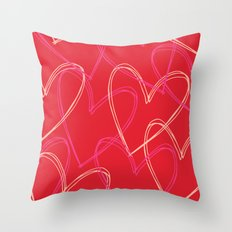 Valentine hearts 2 Throw Pillow