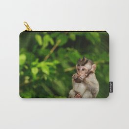 Bali - Baby Monkey Eating Carry-All Pouch