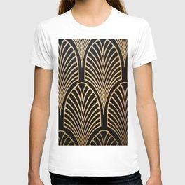 Art nouveau Black,bronze,gold,art deco,vintage,elegant,chic,belle époque T-shirt
