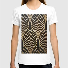 Art nouveau Black,bronze,gold,art deco,vintage,elegant,chic,belle époque T-shirt