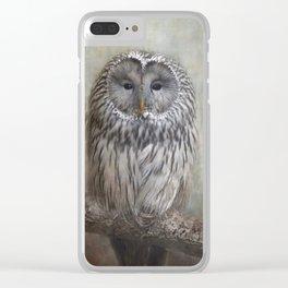 Ural Owl ( Grey owl ) Clear iPhone Case