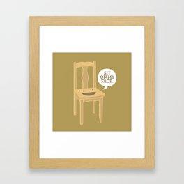 Sit On My Face Framed Art Print