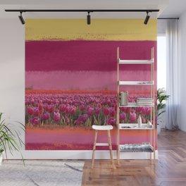 field of tulips Wall Mural