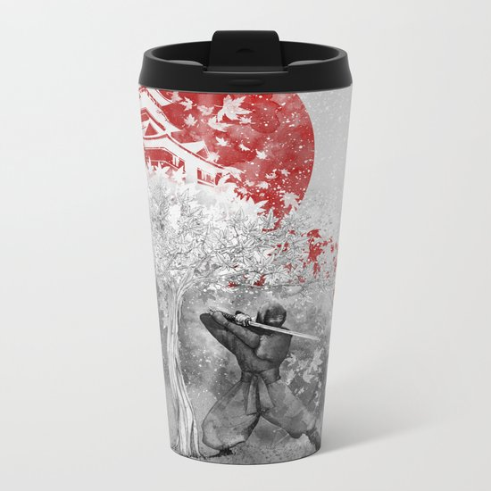 The warrior and the wind Metal Travel Mug