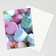 Candy Hearts Stationery Cards