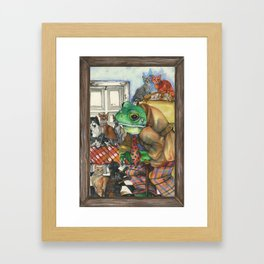 Hermit, a Frog Framed Art Print