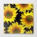 Large Sunflowers on a black background - #Society6 #buyart by pivivikstrm