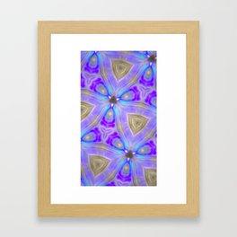 Ultra Violet Sacred Geometry Framed Art Print