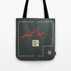 Explore Mountain Tote Bag