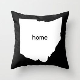 Ohio Home State Map Gifts Throw Pillow