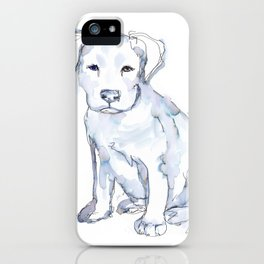 Pit Bull Puppy (for Kerry), watercolor iPhone Case