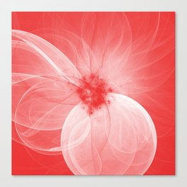 Red Fairy Blossom Fractal Canvas Print