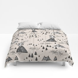 Nature Pattern Brown Comforters