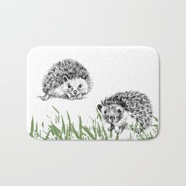 Hedgehogs print Bath Mat