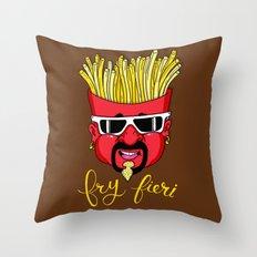 Fry Fieri Throw Pillow