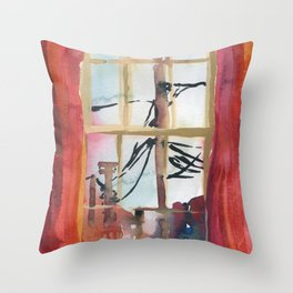 Corner of James Street Throw Pillow
