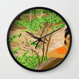Pam at the Lao River Wall Clock