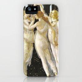 Sandro Botticelli Three Graces in Primavera 1485 iPhone Case